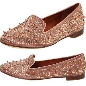 Sam Edelman Adena Studded Loafers 8.5 Rose Gold